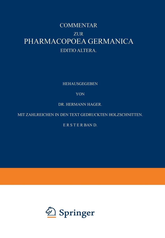 Commentar zur Pharmacopoea Germanica hermann paul analecta germanica classic reprint