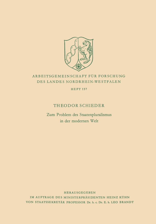 Theodor Schieder Zum Problem Des Staatenpluralismus in Der Modernen Welt mathematica vom problem zum programm