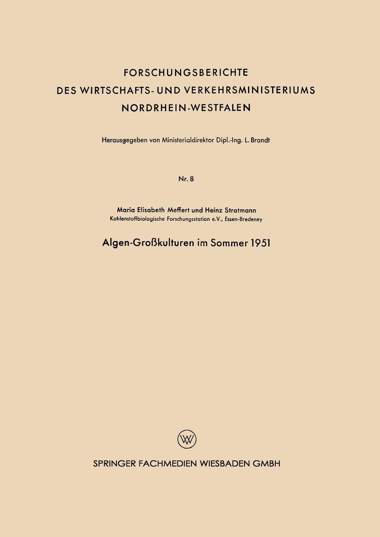 Maria-Elisabeth Meffert Algen-Grosskulturen Im Sommer 1951 sommer matriangello calendar skills