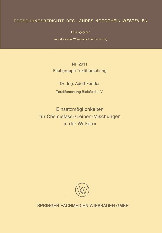 Adolf Funder Einsatzmoglichkeiten Fur Chemiefaser/Leinen-Mischungen in Der Wirkerei alexander benz einsatzmoglichkeiten der markierungssprache xml