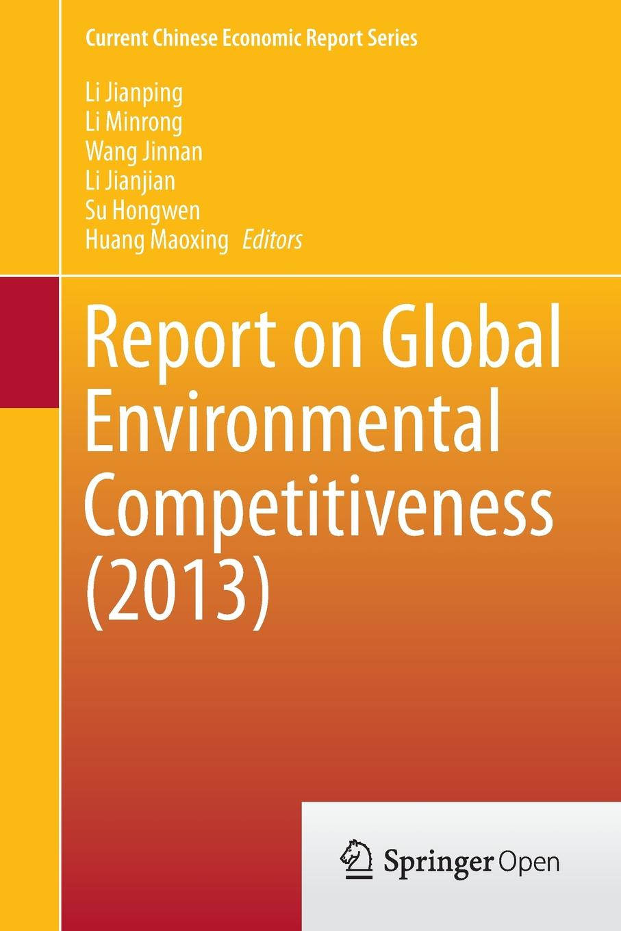 Report on Global Environmental Competitiveness (2013) frances harris global environmental issues