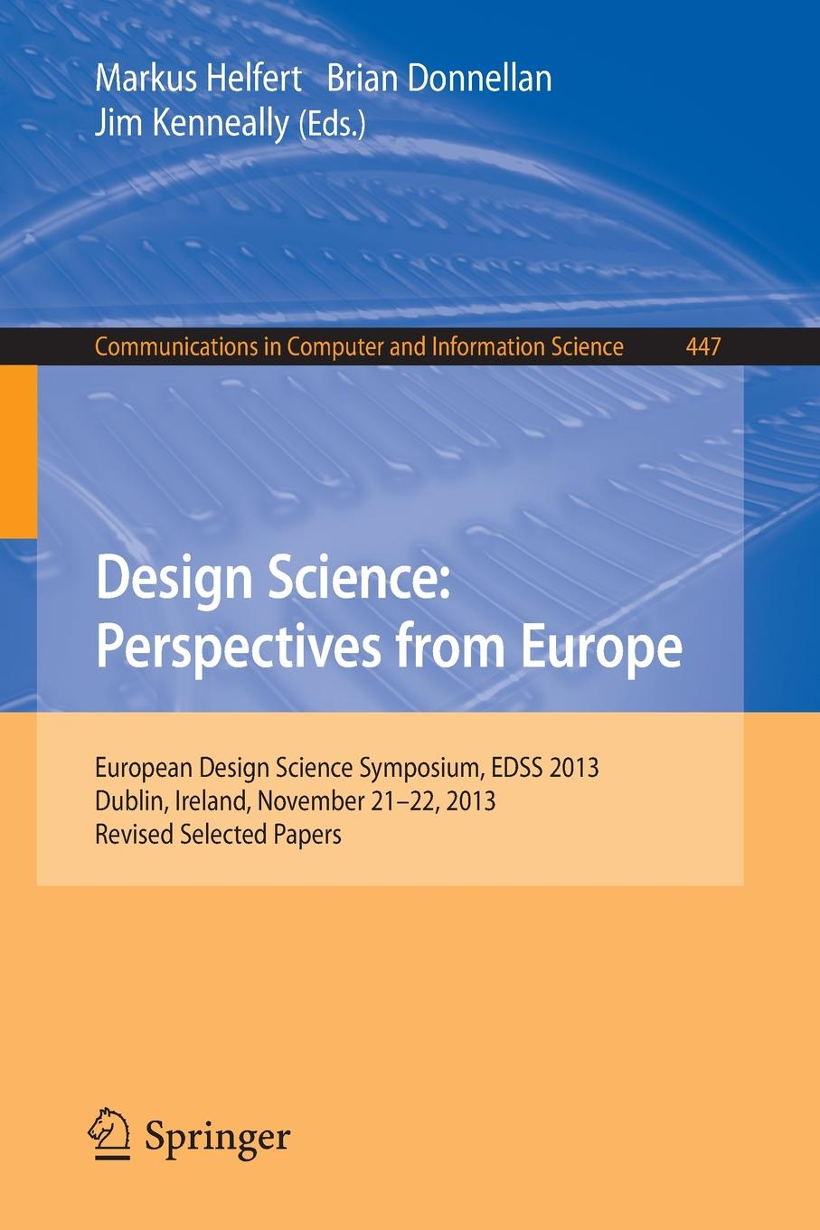 Design Science. Perspectives from Europe benedict nnolim perspectives from an armchair