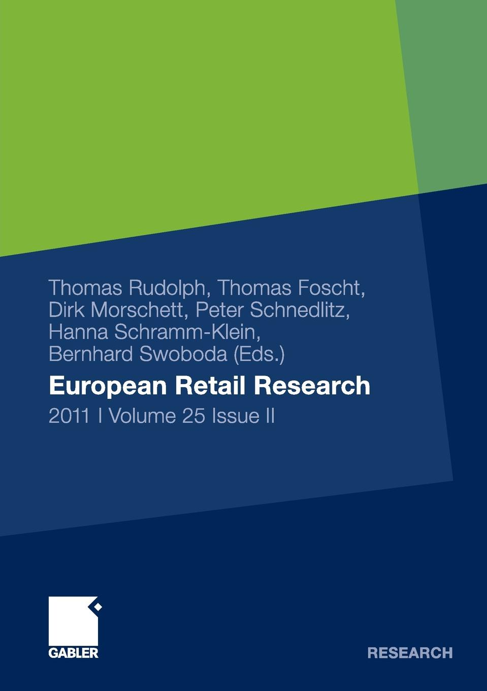купить Thomas Rudolph European Retail Research 2011, Volume 25 Issue II по цене 9389 рублей