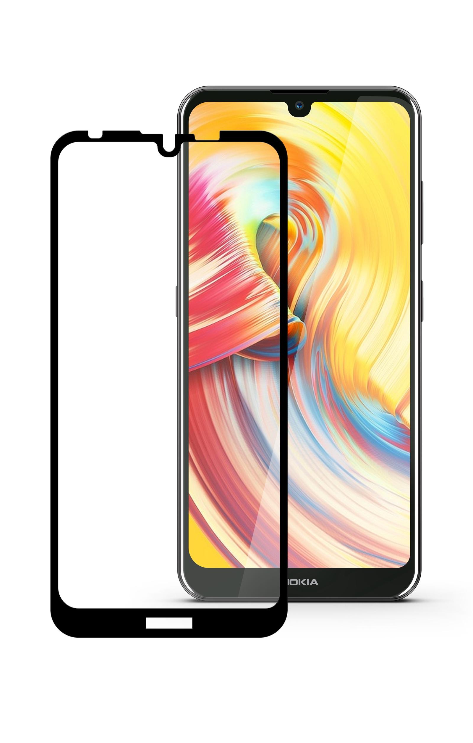 Защитное стекло Mobius для Nokia 3.2 3D Full Cover (Black)