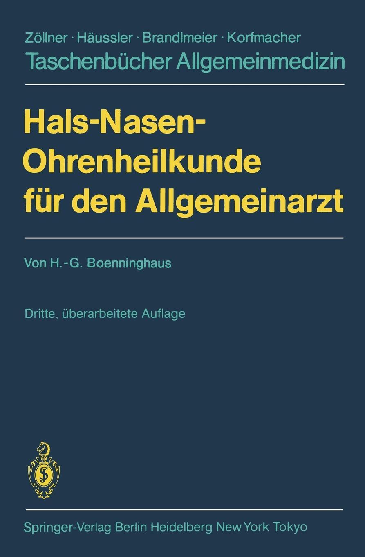 Hans-Georg Boenninghaus Hals-Nasen-Ohrenheilkunde fur den Allgemeinarzt magdalena george hals