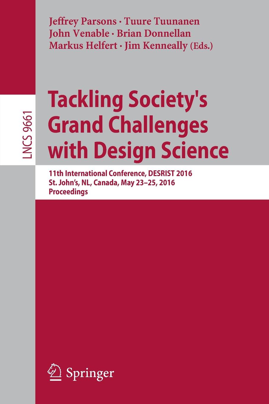Tackling Society's Grand Challenges with Design Science. 11th International Conference, DESRIST 2016, St. John's, NL, Canada, May 23-25, 2016, Proceedings nl international отзывы о продукции для похудения
