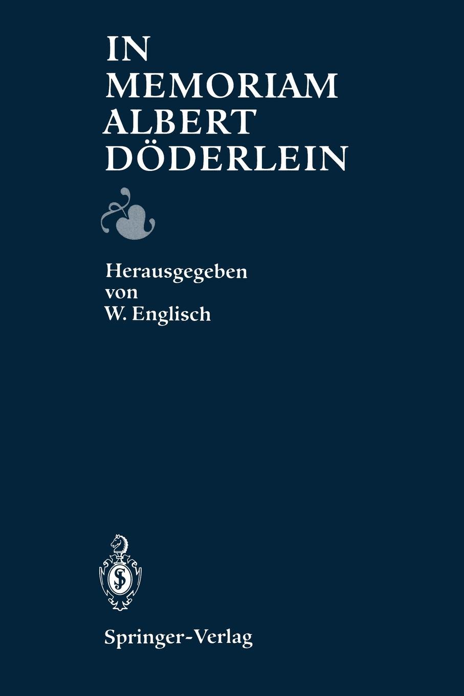 Werner Englisch In Memoriam Albert Doderlein