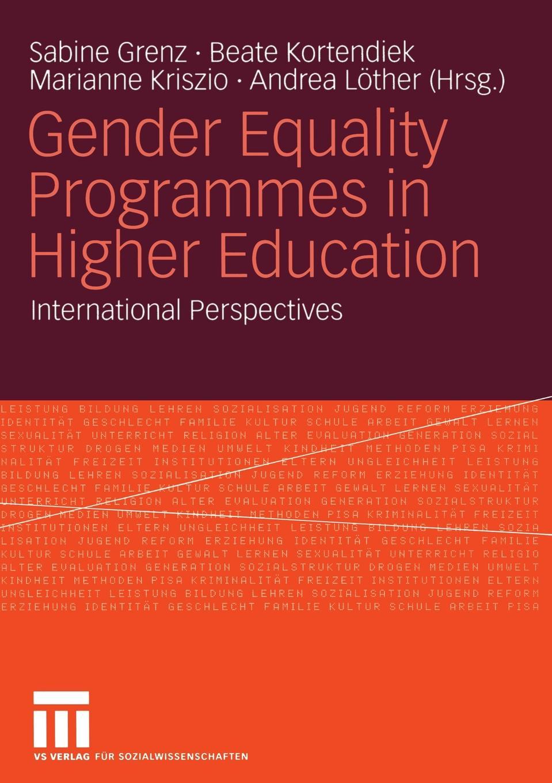 Gender Equality Programmes in Higher Education цена