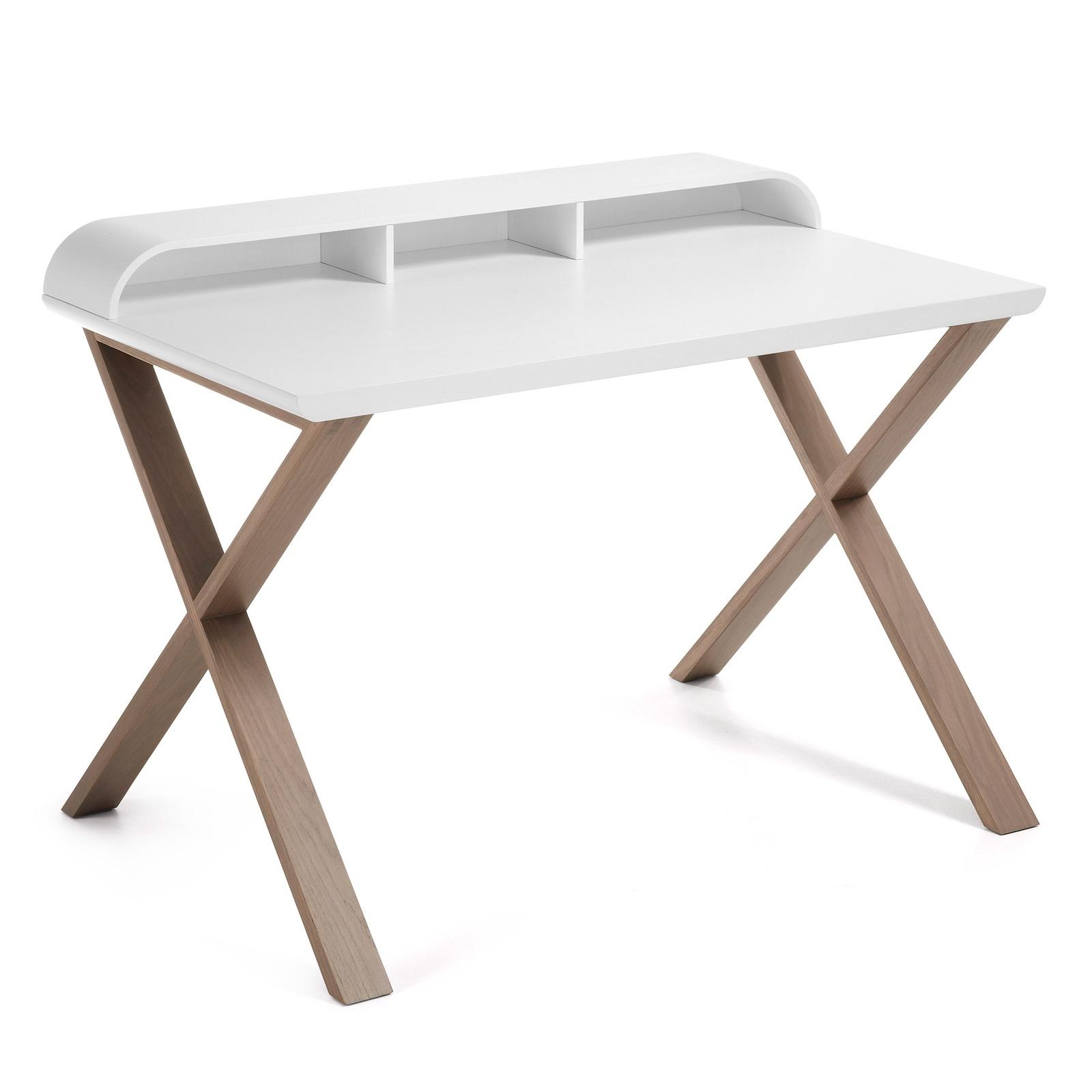 Письменный стол Success 120x79 матовый белый C320L05 Ш.120 В.85 Г.79 Вес 28.7кг; Материал Дуб, Массив; Цвет Белый