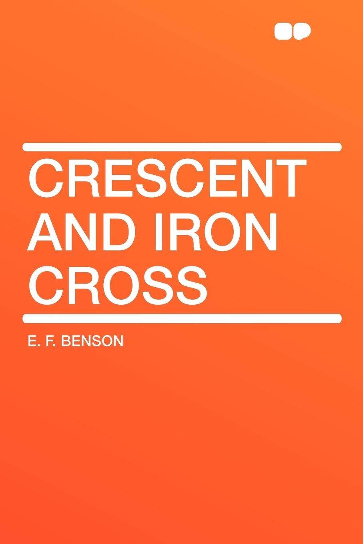 E. F. Benson Crescent and Iron Cross plus size applique floral crescent hem top