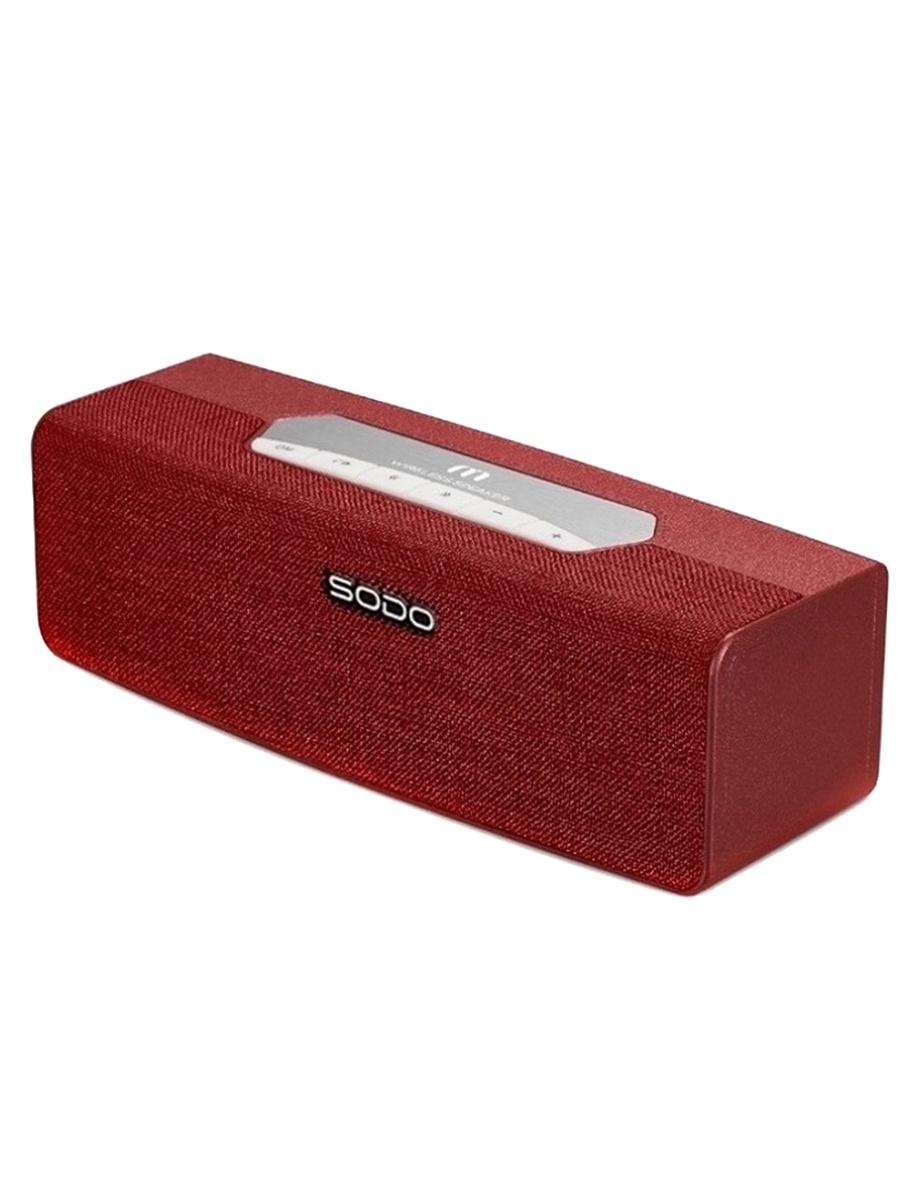 Беспроводная колонка SODO L2, красный музыка на телефон