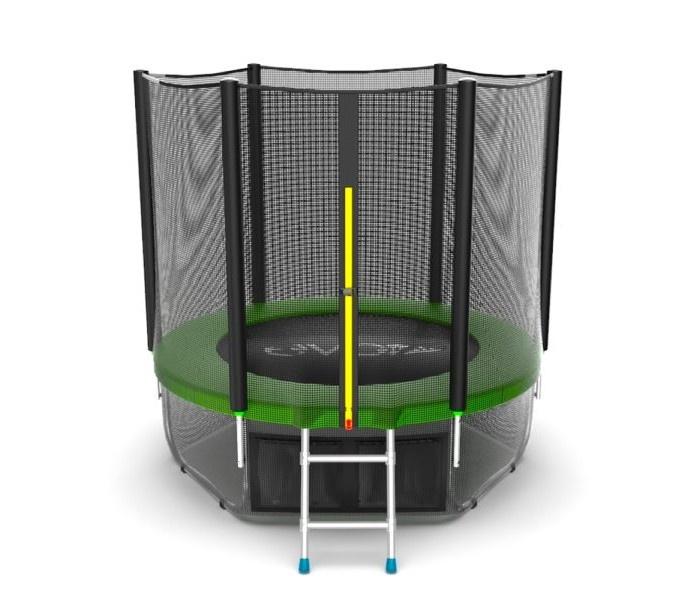 Батут EVO JUMP External 8ft (Green) + Lower net. с внешней сеткой и лестницей, диаметр 8ft (зеленый) + нижняя сеть зеленый батут 8ft 2 44м