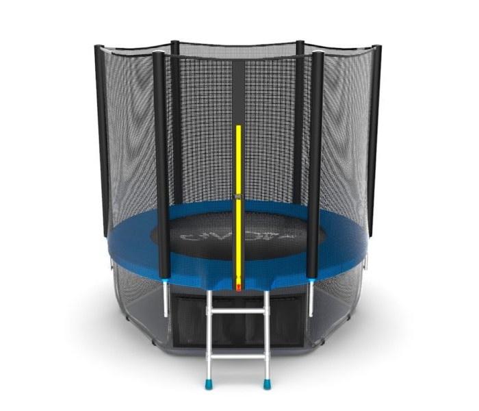 Батут EVO JUMP External 6ft (Blue) + Lower net. с внешней сеткой и лестницей, диаметр 6ft (синий) + нижняя сеть синий батут evo jump external 16ft blue