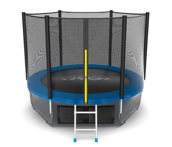 Батут EVO JUMP 10ft (синий) + нижняя сеть синий батут evo jump external 16ft blue