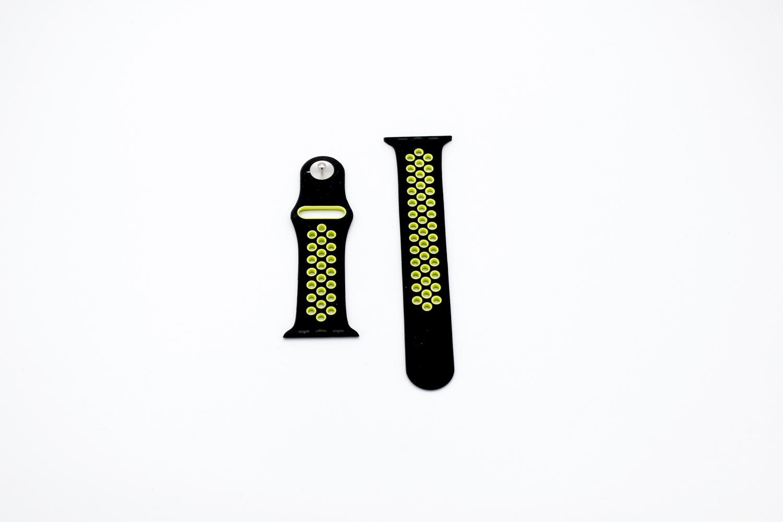 Ремешок для смарт-часов Apple Силиконовый ремешок для Watch 42/44 серия Nike, черный часы apple watch nike series 3 gps cellular 42 мм корпус из алюминия цвета серый космос спортивный ремешок nike цвета антрацитовый чёрный