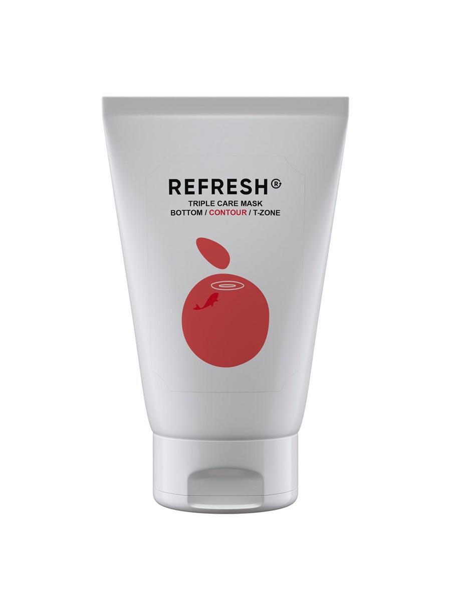 Фото - Refresh Розовая минерально-витаминная маска для области скул и щек Triple Care Mask Contour, 50 мл облепиховое масло 50 мл бад