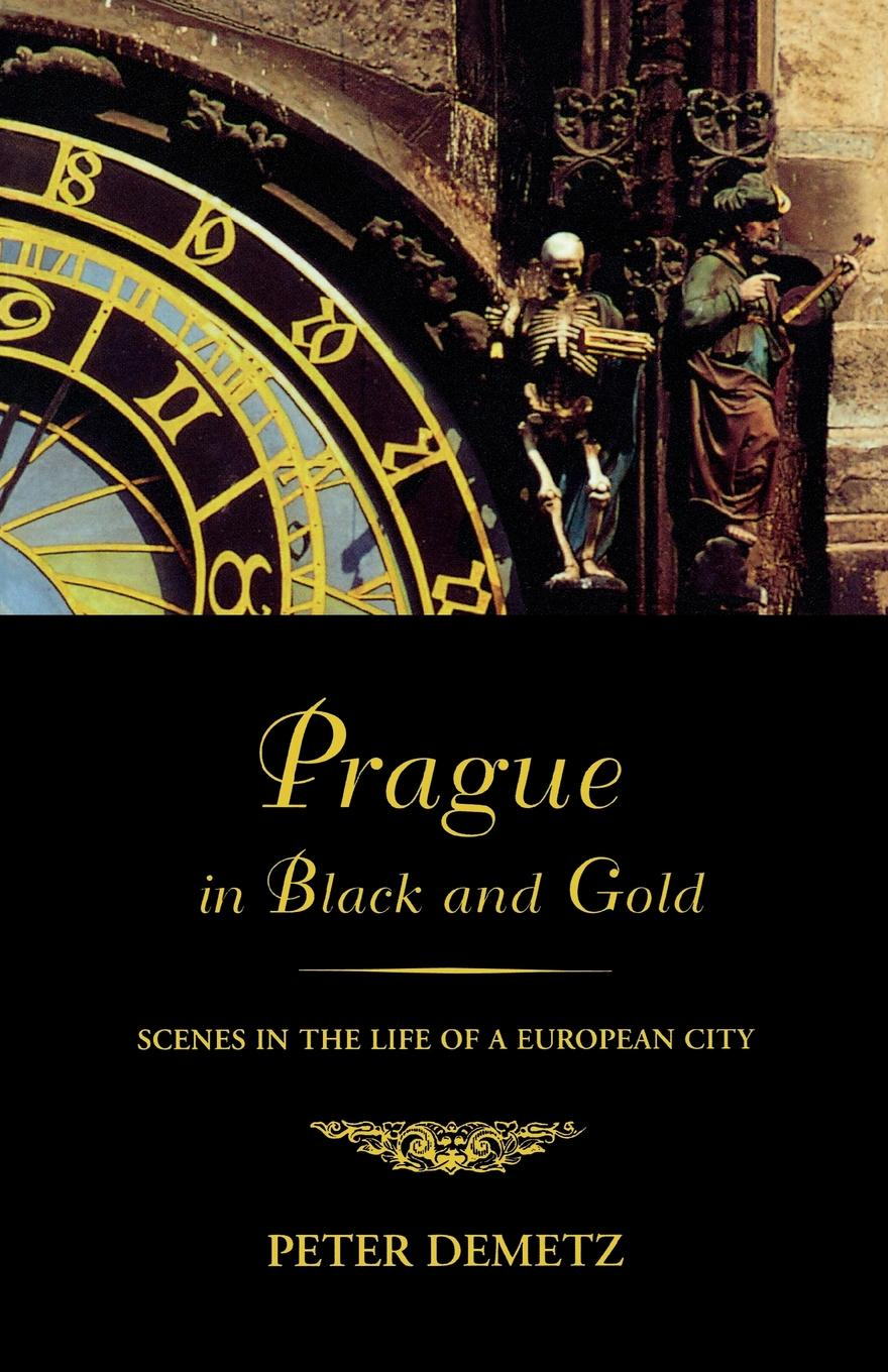 Peter Demetz Prague in Black and Gold prague pocket map