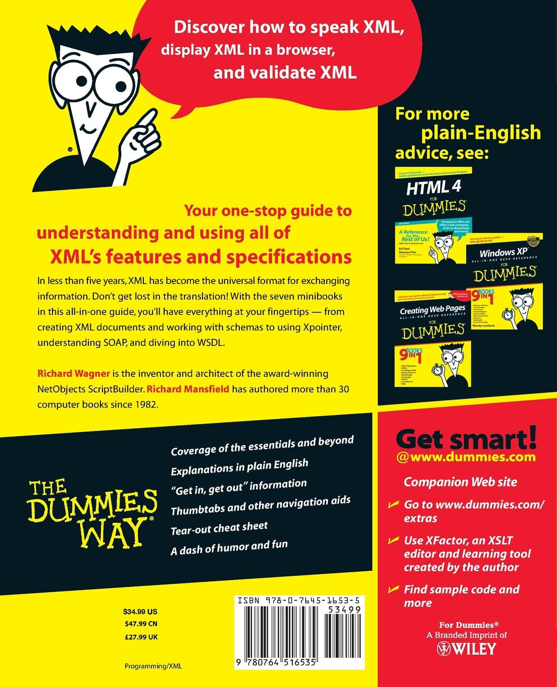 Richard Wagner, Richard Mansfield XML All in One Desk Reference for Dummies ed tittel xml for dummies