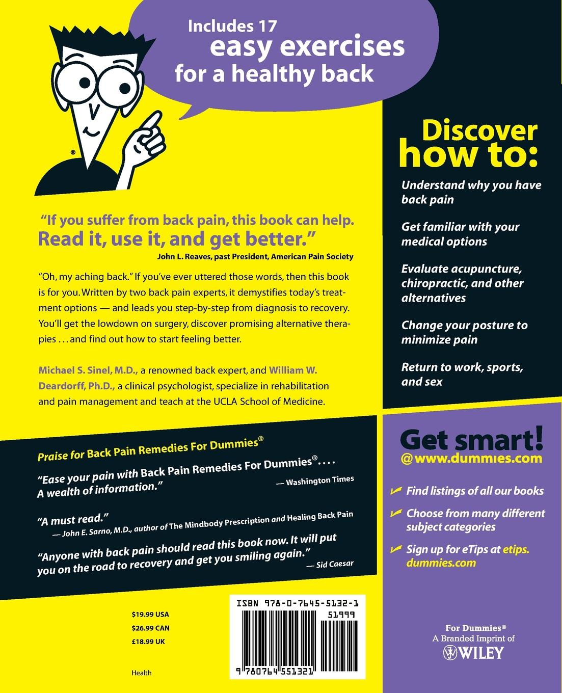 Michael S. Sinel, William W. Deardorff, Sinel Back Pain Remedies for Dummies michael demers n gis for dummies