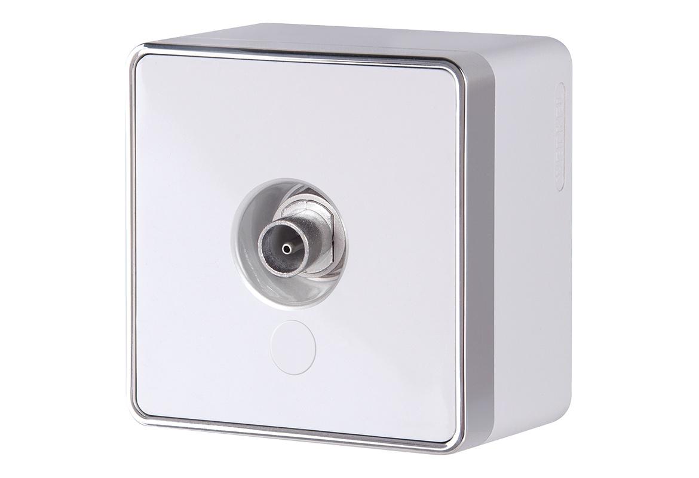 Розетка Werkel ТВ оконечная Gallant (белая) WL15-21-01, белый