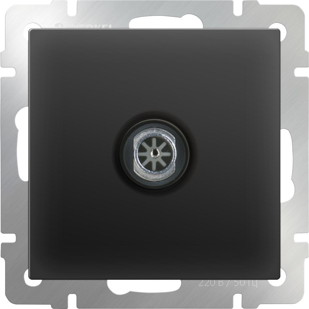 WL08-TV-2W/ ТВ-розетка проходная (черный матовый) тв розетка оконечная черный матовый wl08 tv 4690389054273