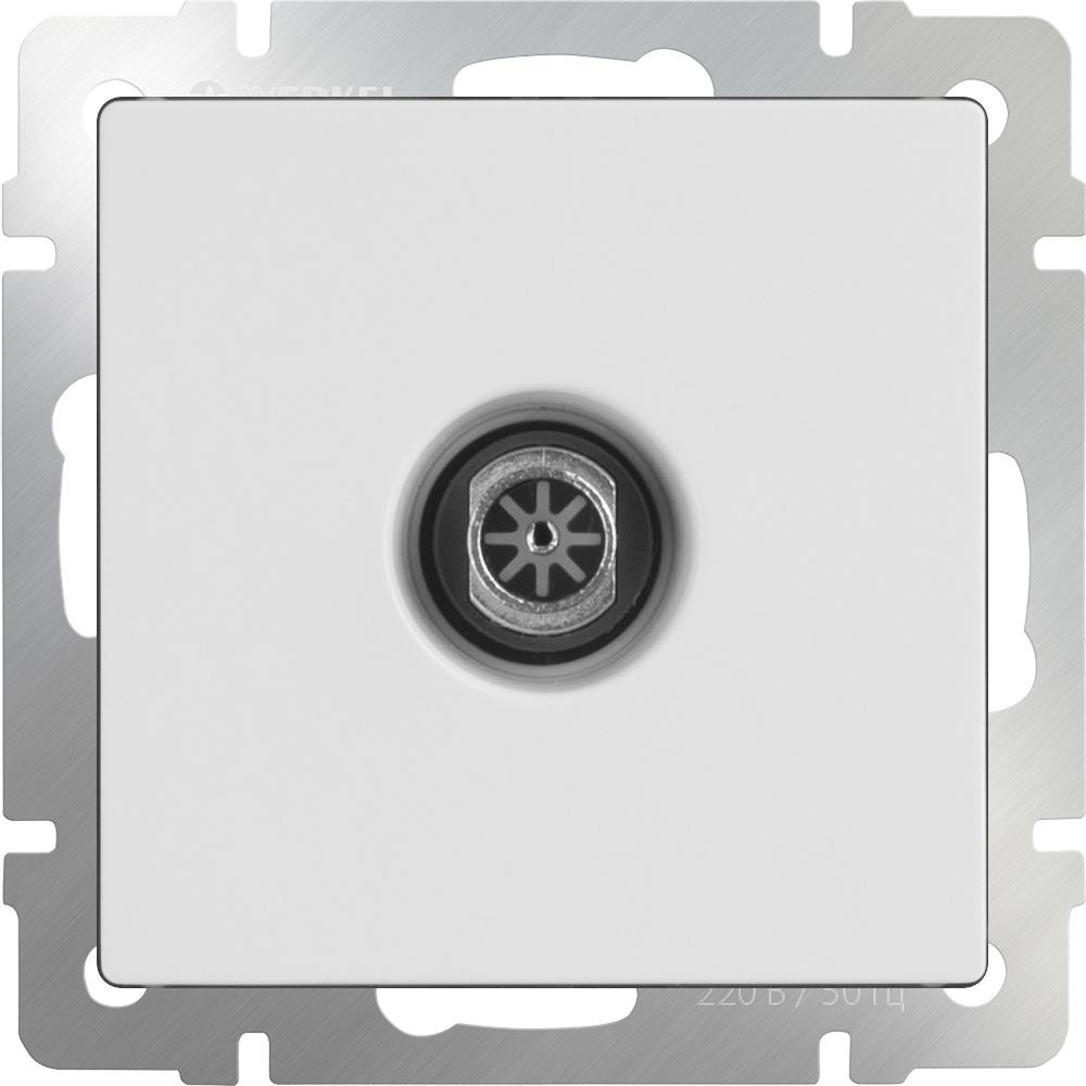 Розетка Werkel ТВ проходная (белая) WL01-TV-2W, белый кабель тв вилка тв розетка антенный 3 м