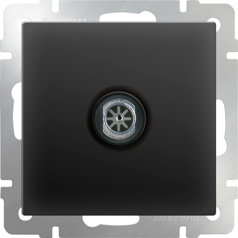 Розетка Werkel ТВ оконечная (черный матовый) WL08-TV, черный тв розетка оконечная черный матовый wl08 tv 4690389054273