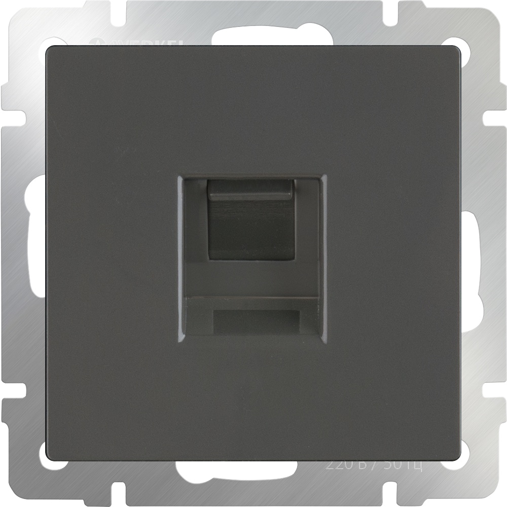 WL07-RJ-45/ Розетка Ethernet RJ-45 (серо-коричневый) диммера werkel antik серо коричневый wl07 audiox4 wl07 dm600