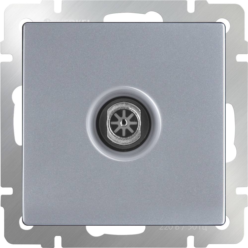 Розетка Werkel ТВ оконечная (серебряный) WL06-TV, серебристый тв розетка оконечная черный матовый wl08 tv 4690389054273