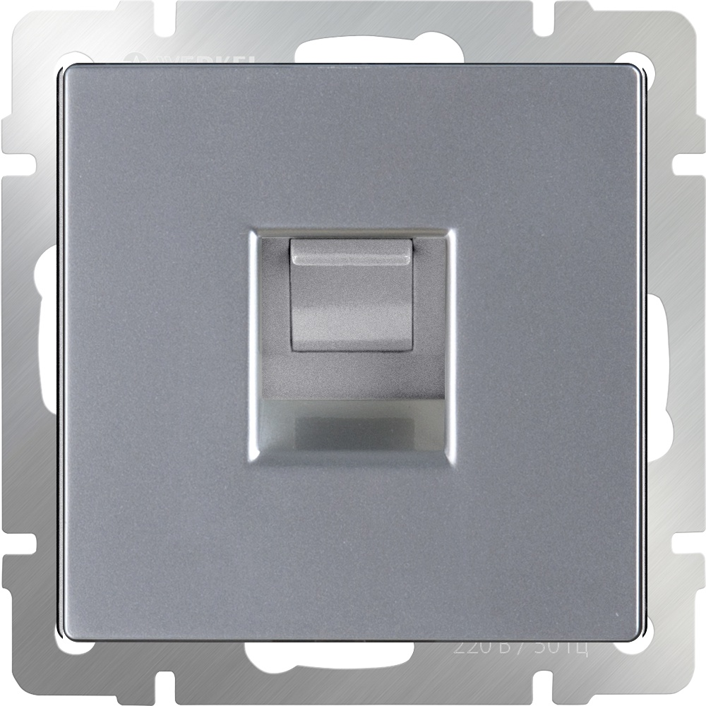 WL06-RJ-11/ Телефонная розетка RJ-11 (серебряный) цены онлайн