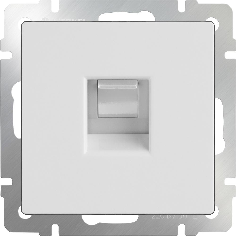 Розетка Werkel Ethernet RJ-45 (белая) WL01-RJ-45, белый кабель ethernet rj 45 chord c stream 0 75 m