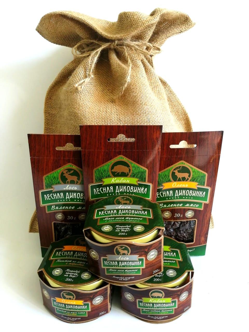 Мясные консервы Лесная диковинка 4680059280552 Подарочное оформление, 690