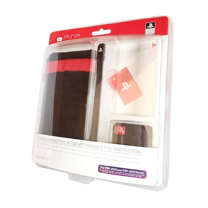 Комплект игровых аксессуаров 4gamers Clean & Protect Kit, черный, красный игры для игровой приставки denn