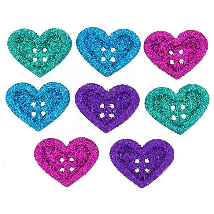 Пуговицы Jesse James - Large hearts