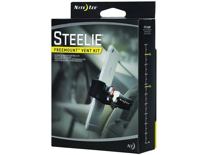 Держатель для телефона NiteIze Магнитный Nite Ize Steelie FreeMount Vent Kit, черный универсальный автомобильный держатель nite ize steelie vent mount kit