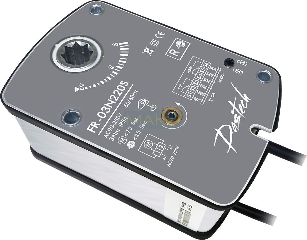 Dastech FR-03N220S 3Нм/230В огнезадерживающих клапанов Электроприводы Dastech предназначены...