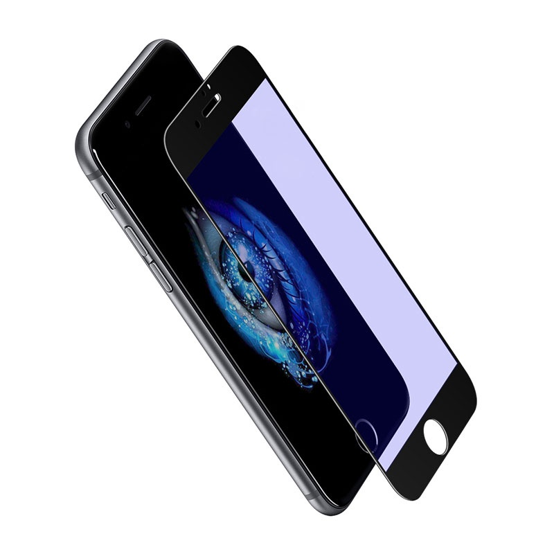 Защитное стекло для i6 PLUS 5D плоский черный DREAM (на русском)