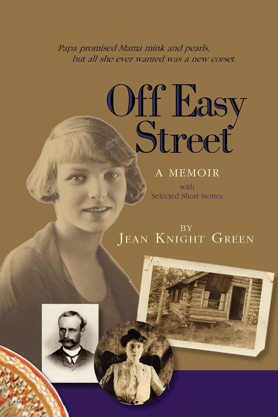 Jean Knight Green Off Easy Street a Memoir. With Selected Short Stories red shirring off shoulder short sleeves crop top