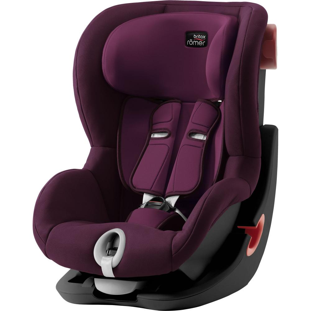 Britax Roemer автокресло King II Black Series Burgundy Red Trendline (Группа 1, от 9 до 18