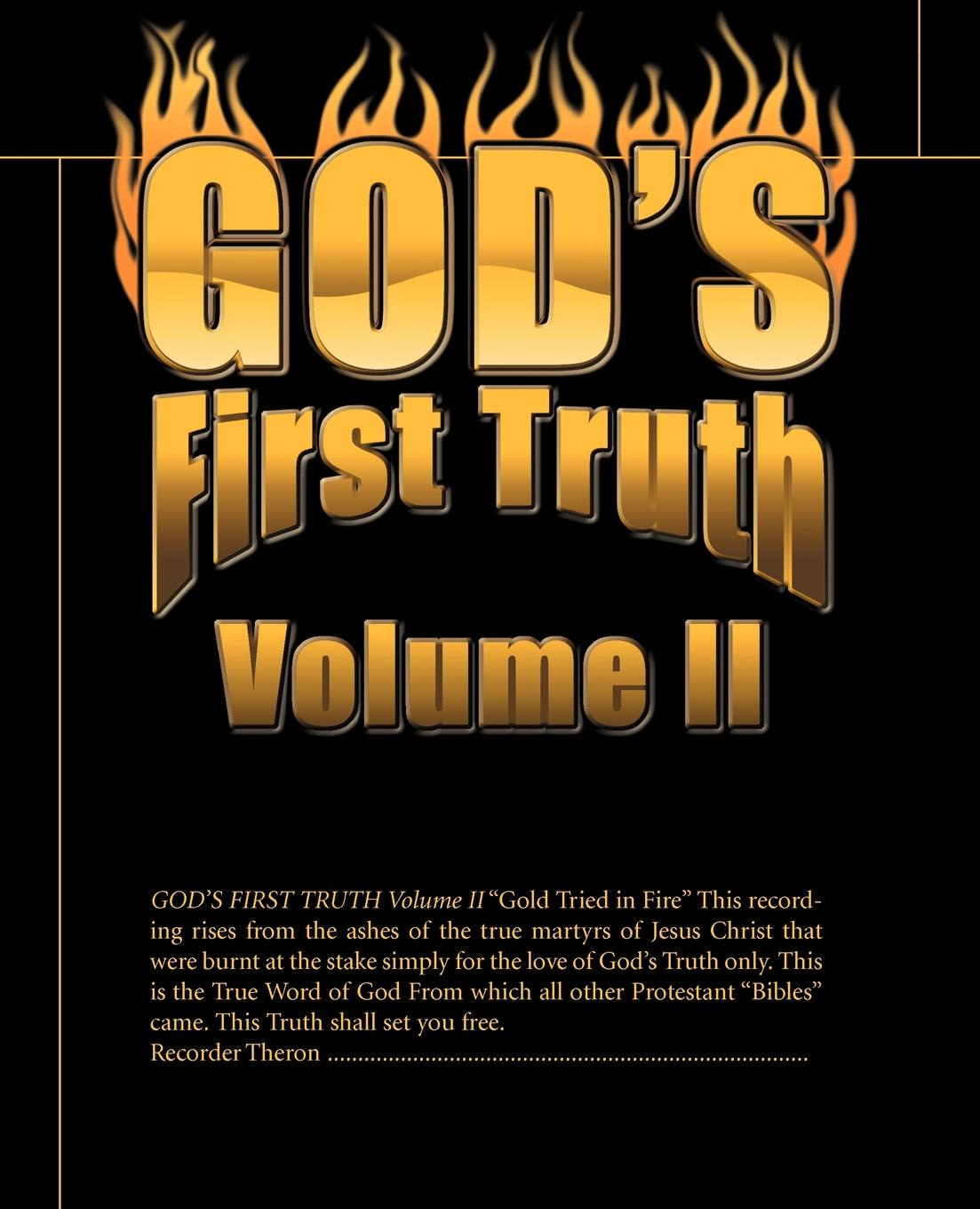 God's First Truth Volume II
