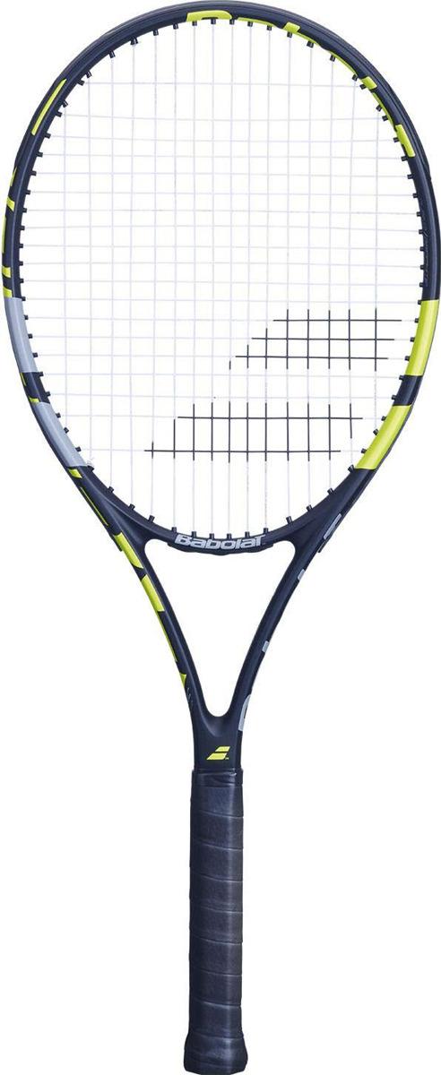 Ракетка для тенниса Babolat Evoke 102, с натяжкой, ручка 3, желтый, черный, белый