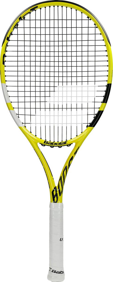 Ракетка для тенниса Babolat Boost Aero, с натяжкой, ручка 3, желтый, черный