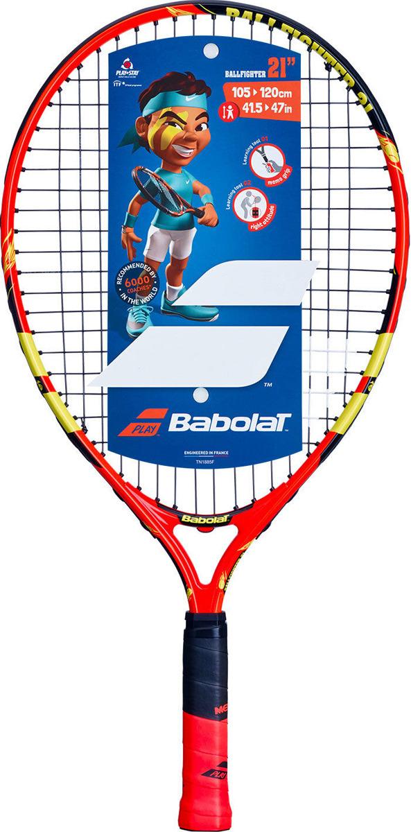 Ракетка для тенниса Babolat Ballfighter 21, ручка 000, оранжевый, черный, желтый
