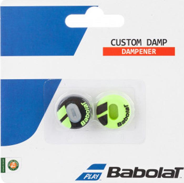 Виброгаситель Babolat Custom Damp, черный, желтый, 2 шт