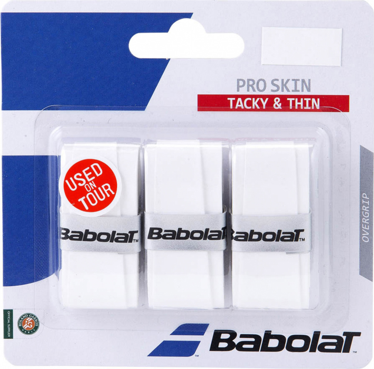 Намотка Babolat Pro Skin, белый, 3 шт