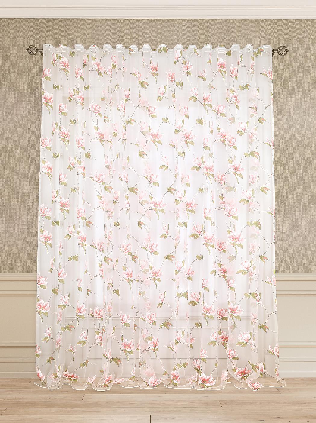 купить Тюль Томдом Юний, белый, розовый, зеленый по цене 5040 рублей