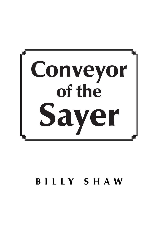 Billy Shaw Conveyor of the Sayer slat conveyor belt