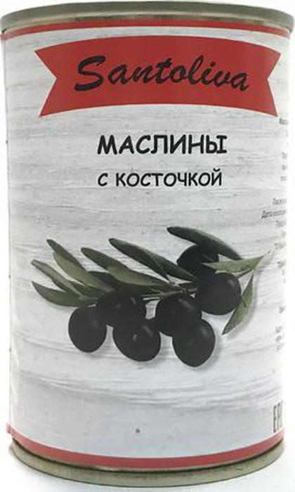 Овощные консервы Santoliva Маслины с косточкой, жестяная банка, 300 г цена в Москве и Питере
