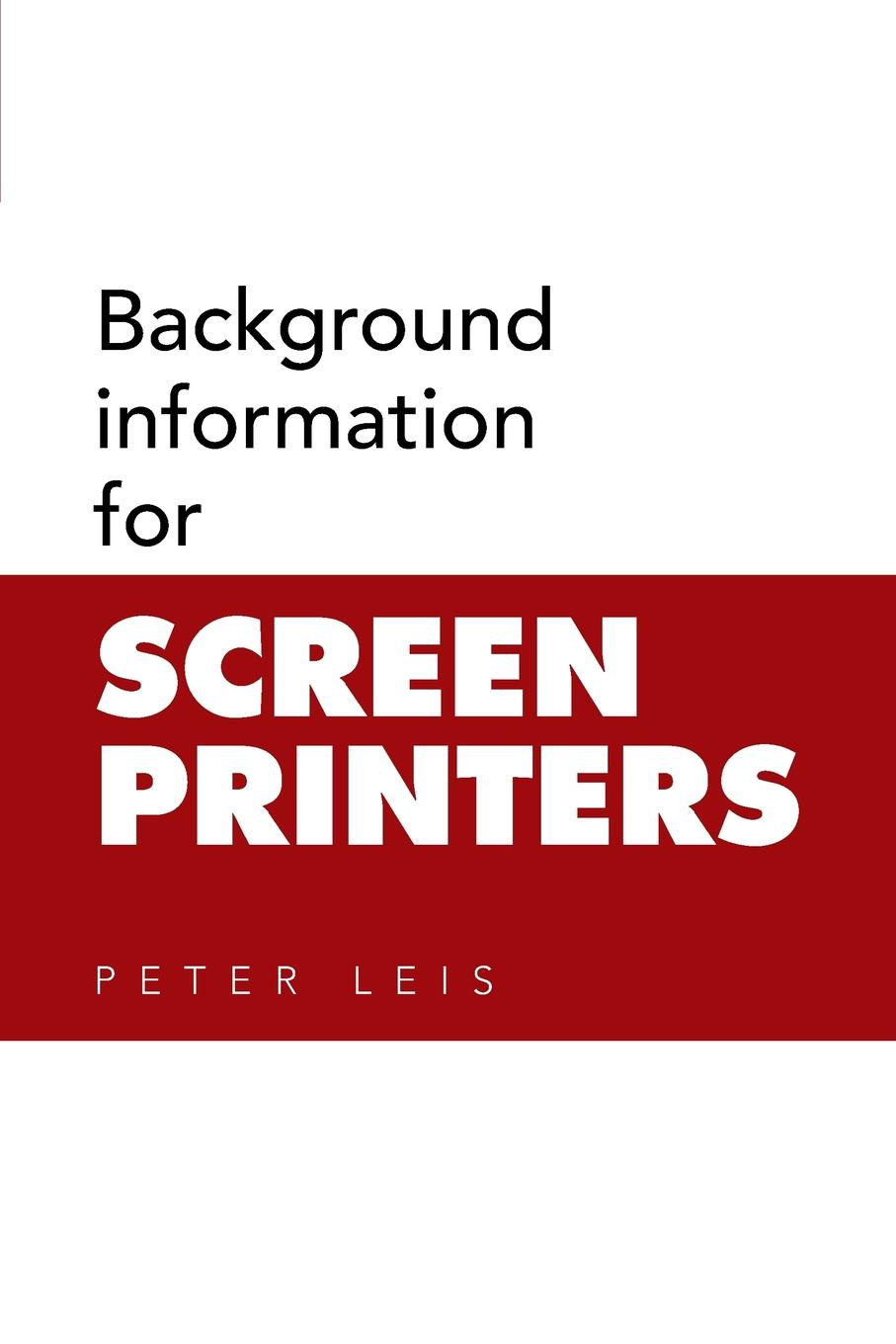 Peter Leis Background information for SCREEN PRINTERS original oem chip resetter for t6710 t6711 maintenance tank printers