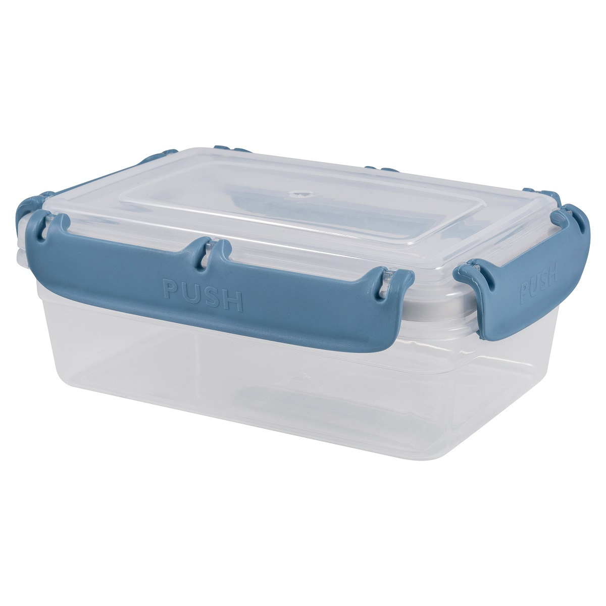 Контейнер пищевой Plast Team Bergen, с защелками, PT1045-10, туманно-голубой, 1,4 л контейнер пищевой plast team цвет голубой прозрачный 0 6 л
